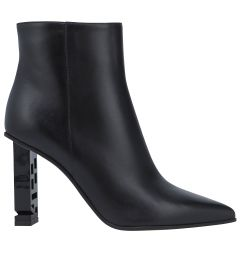 SERGIO ROSSI Leather/Lacquered Bootie A87450MNAN07 ΜΠΟΤΑΚΙ ΜΕΣΑΙΟ