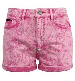 PHILIPP PLEIN Hot pants Crystal WDT1361 PDE004N ΠΑΝΤΕΛΟΝΙ DENIM