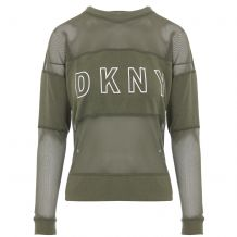 DKNY MESH BLOCKED CREWNECK DP0T6177