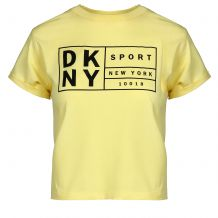 DKNY BOXY TEEWITH OVERSIZED LABEL DP0T7350