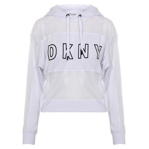 DKNY MESH BLOCKED HOODED PULLOVER DP0T7296 ΜΕ ΚΟΥΚΟΥΛΑ