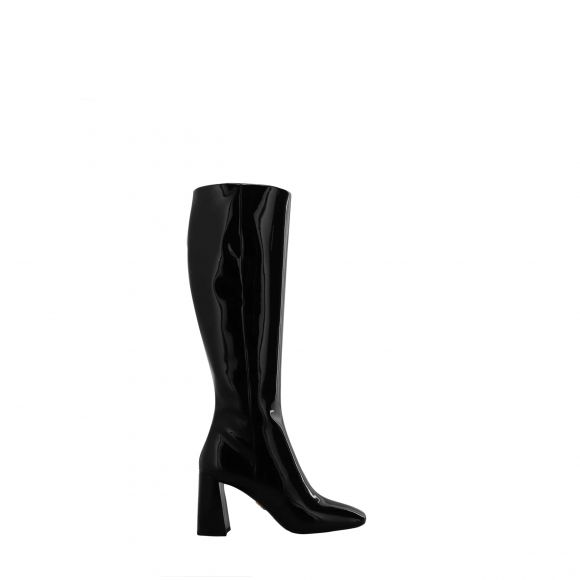 PRADA BOOTS LEATHER (NO-REPT) UPPER /LEATHER SOLE 1W703L 069 ΜΕΧΡΙ ΤΟ ΓΟΝΑΤΟ