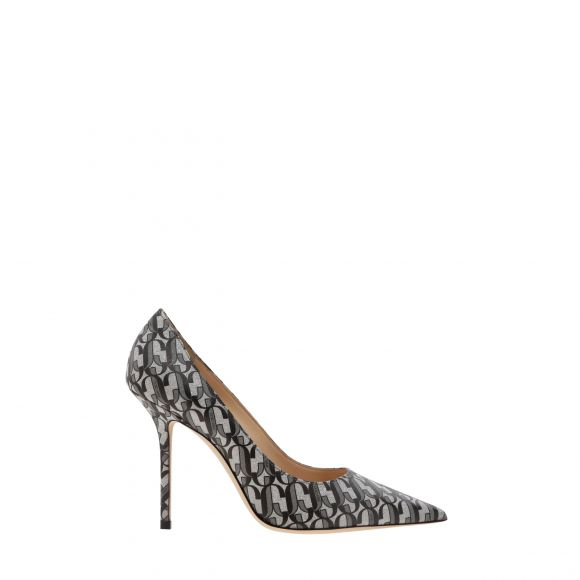 JIMMY CHOO LOVE GLITTER LEATHER PUMP LOVE 100 RJC