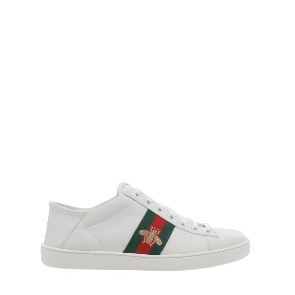 GUCCI LEATHER UPPER AND RUBBER SOLE SNEAKER 475208 A9L60 LOW