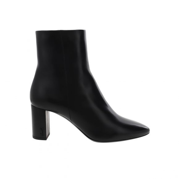 SAINT LAURENT LOU 70 PIN ZIP LEATHER BOOTIE 5293500RRVV ΜΕΣΑΙΟ
