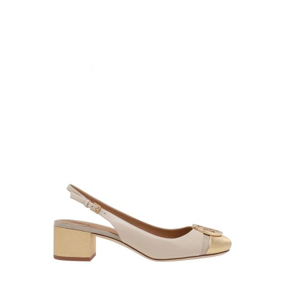 TORY BURCH MINNIE 55MM CAP-TOE SLINGBACK PUMP 64200