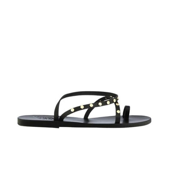 ANCIENT GREEK SANDALS WOMEN'S FLAT SANDAL APLI ELEFTHERIA NAILS VACHETTA FLAT