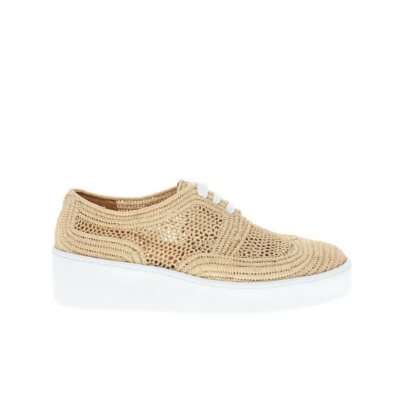 CLERGERIE TAILLE RAFIA SNEAKER ON WHITE 310728