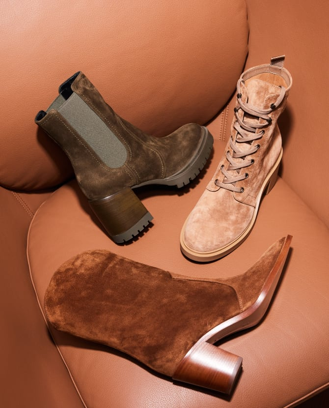 <strong>BOOTIE CALL</strong>Discover our new season ankle boot styles for cool & stylish trans-seasonal looks.