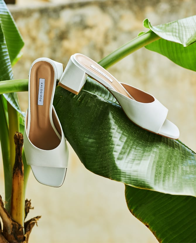 <strong>ΤΗΕ KALOGIROU COLLECTION</strong>Build your look from the ground up with our Kalogirou summer styles.